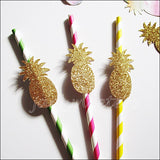 Gold Glitter Pineapple Straws - Jaclyn Peters Designs - 3