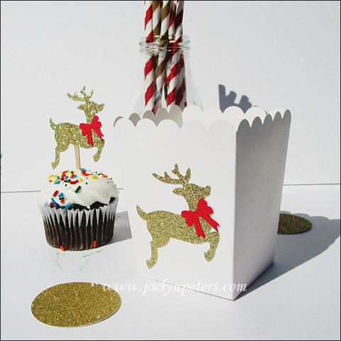 Christmas Reindeer Popcorn Boxes - Jaclyn Peters Designs - 1