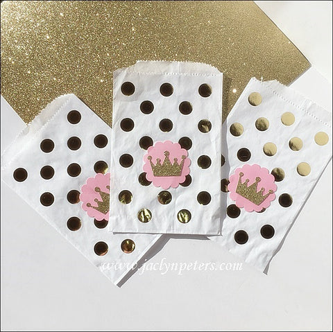 Gold Princess Party Bags