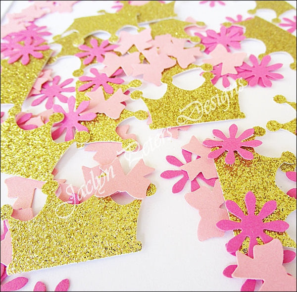 Pink & Gold Princess Confetti - Jaclyn Peters Designs - 1