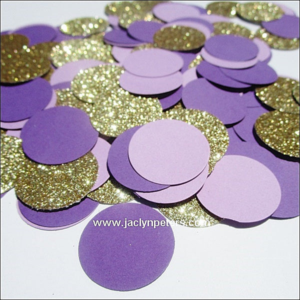 Purple & Gold Party Confetti - Jaclyn Peters Designs - 1