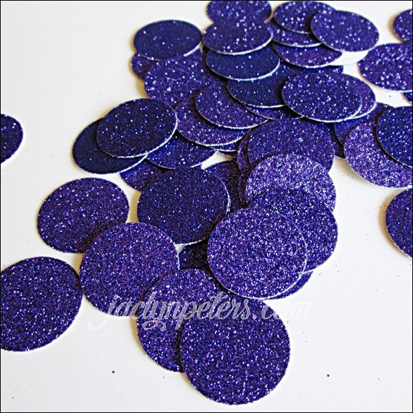 Purple Glitter Circles Party Confetti