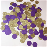 Royal Purple And Gold Glitter Party Table Confetti