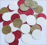 Red & Gold Glitter Party Confetti - Jaclyn Peters Designs - 2