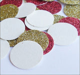 Red & Gold Glitter Party Confetti - Jaclyn Peters Designs - 1