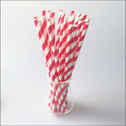 Red & White Party Straws - Jaclyn Peters Designs