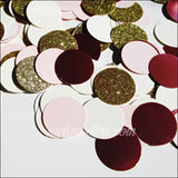 Vintage Glam Party Confetti In Mauve, Blush, Ivory And Gold Glitter