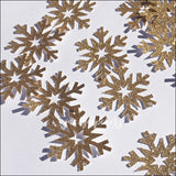 Gold Glitter Snowflakes Winter Party Confetti - 30 Pieces