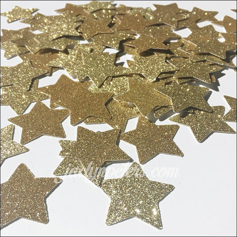 Gold Glitter Stars Party Confetti
