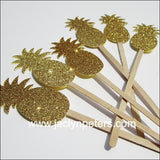 Gold Pineapple Party Swizzle Sticks - Jaclyn Peters Designs - 1