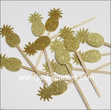 Gold Pineapple Party Swizzle Sticks - Jaclyn Peters Designs - 2