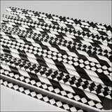 Black & White Party Straw Mix - Jaclyn Peters Designs - 2