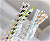 Vintage Striped Party Straws - Jaclyn Peters Designs - 2