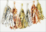 Mini Metallic Party Tassels Set of 18 - Jaclyn Peters Designs - 1
