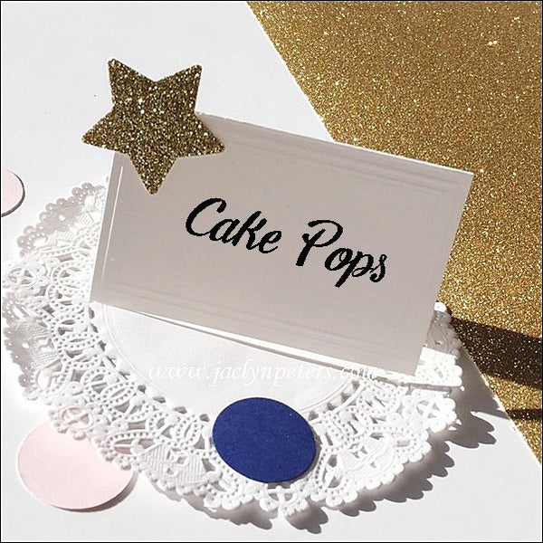 Glitter Star Dessert Table Tents