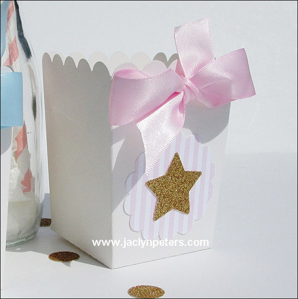 Pink Twinkle Twinkle Little Star Favor Boxes - Jaclyn Peters Designs - 1