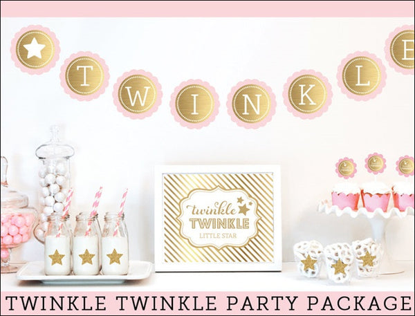 Girls Twinkle Twinkle Little Star Party Kit - Jaclyn Peters Designs