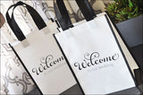 Welcome To Our Wedding Tote Bags Set Of 12
