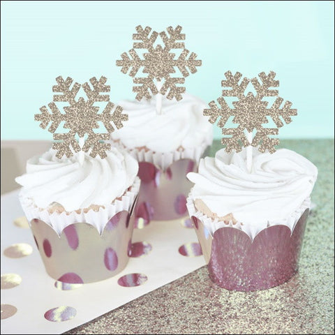 Winter Snowflake Cupcake Decoration Kit - Jaclyn Peters Designs