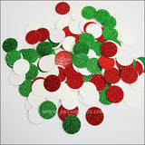 Red, Green & Ivory Christmas Confetti