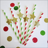 Gold Star Christmas Party Straws - Jaclyn Peters Designs - 3