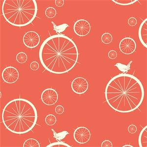 birds and wheels pattern