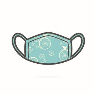 Mint green birdie face mask