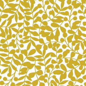 citron colored branch pattern
