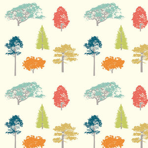 multi-color trees pattern
