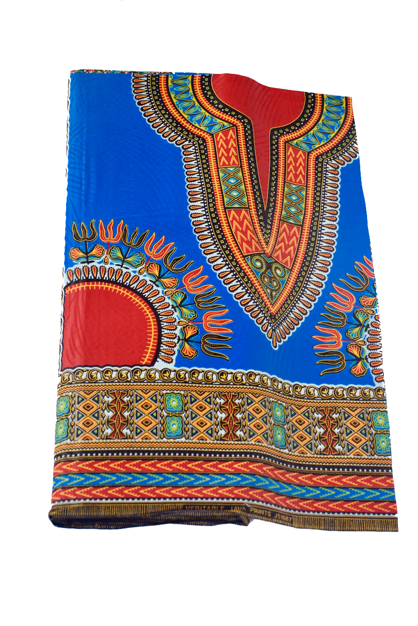 Electric Blue Dashiki Fabric