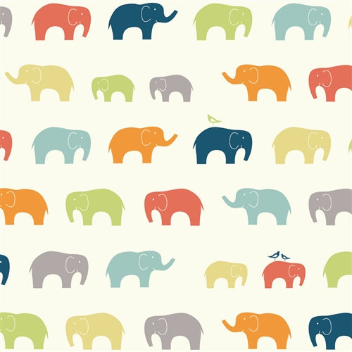 multi-color elephant pattern