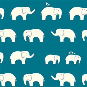 cream colored elephant pattern