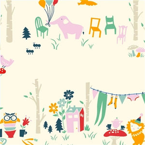 multi-color animal party pattern