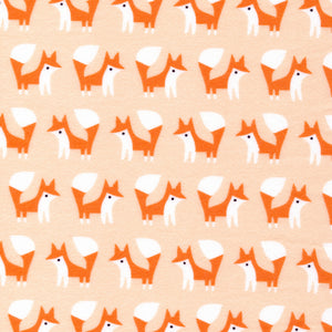white & orange fox pattern