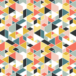 multi-colored geometry pattern