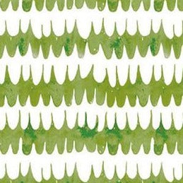 Green & white feathers pattern