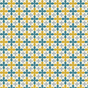 yellow, blue & grey owl pattern