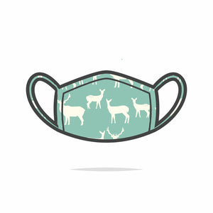 Mint green elk face mask