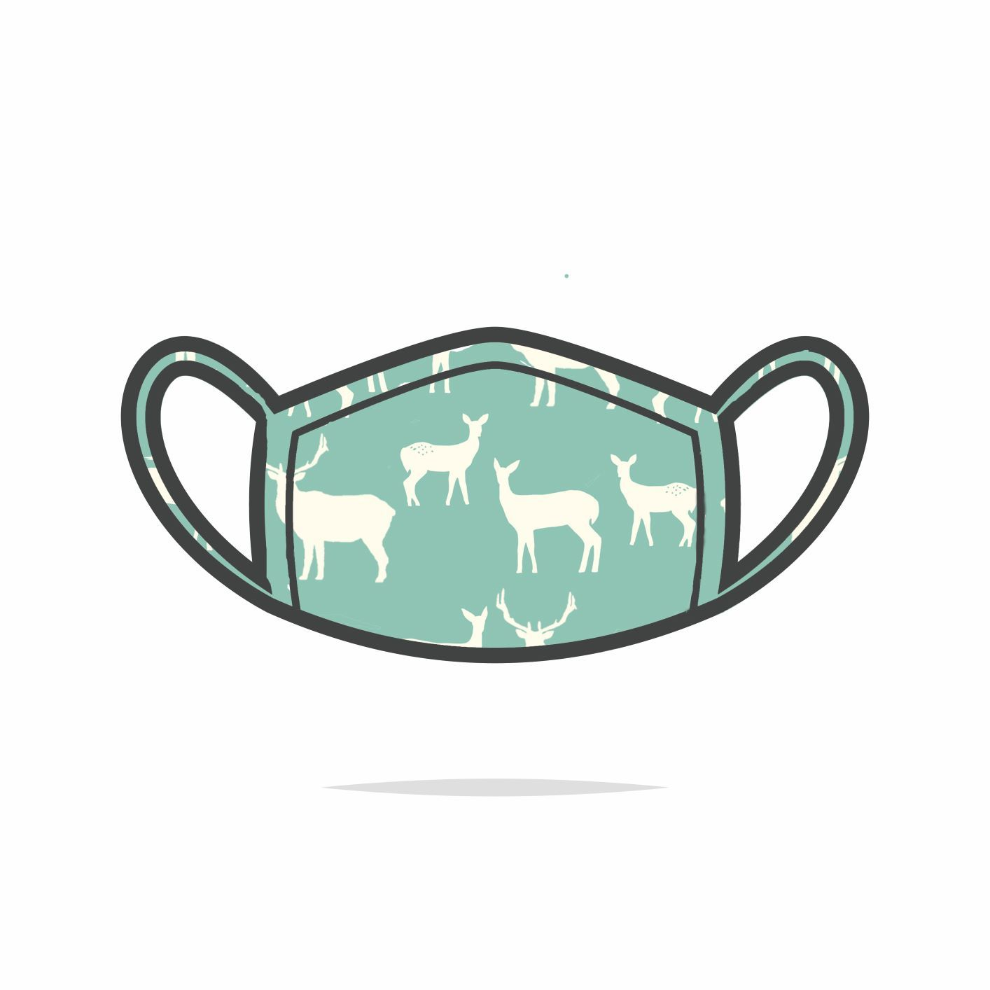 Mint Elk Family Face Mask