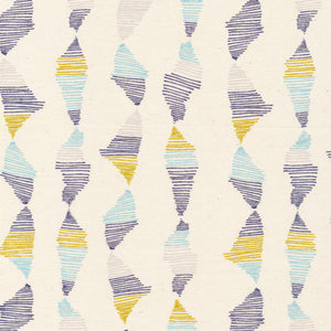 blue, purple, & yellow abstract lines pattern
