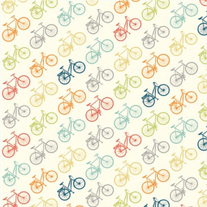 multi-color bicycle pattern