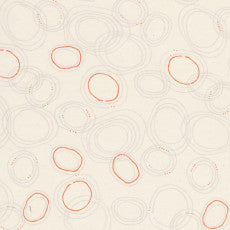 grey & red rings pattern