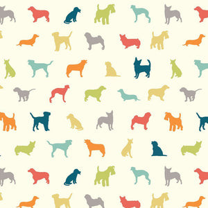 multi-color dog pattern