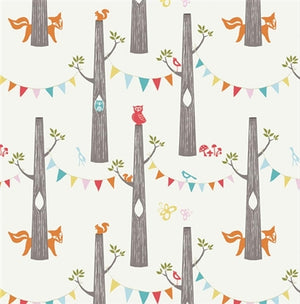 Colorful decorated tree pattern