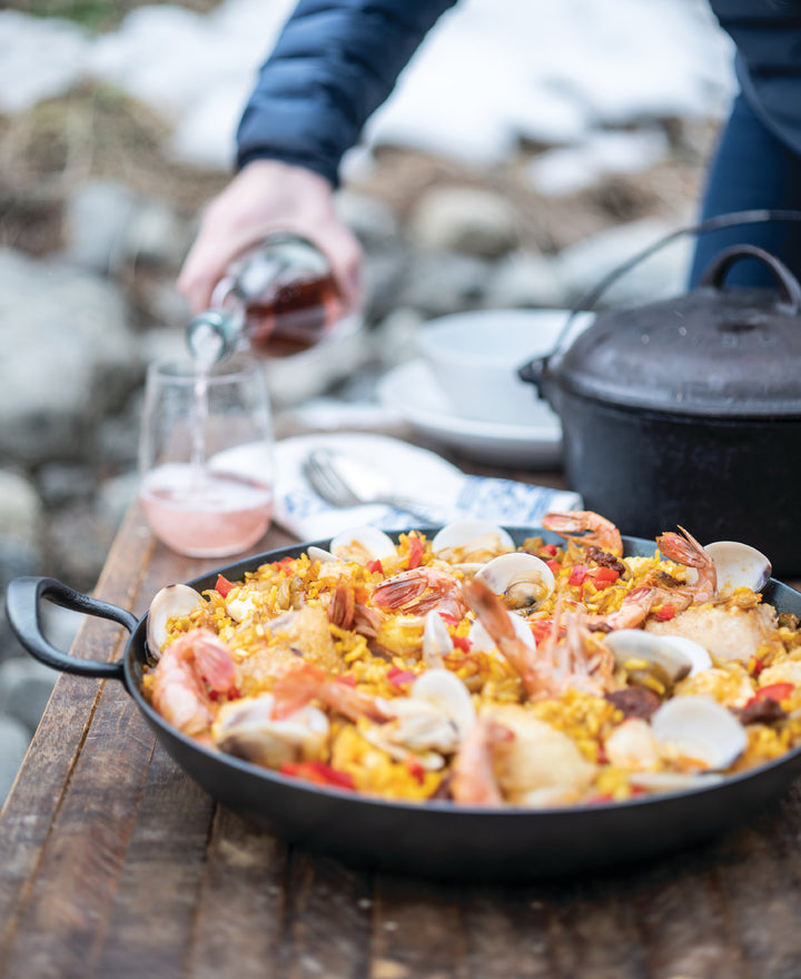 Paella with Chicken, Shrimp and Mussels