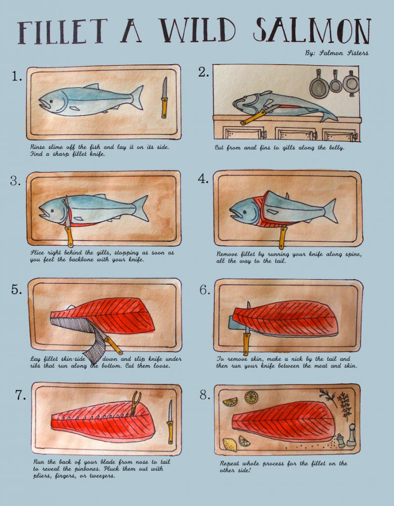 How to fillet a wild salmon salmon sisters for How to fish