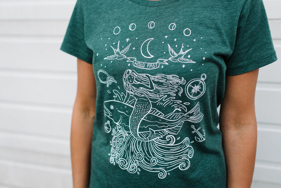 Hold Fast Mermaid Tee