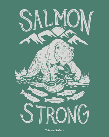 Salmon Strong Decal