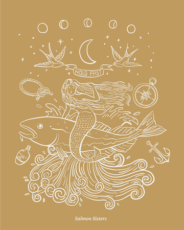 Hold Fast Mermaid Decal