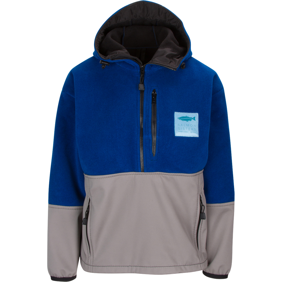 Whirl Point Pullover Jacket - Ocean